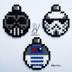 Star Wars Christmas baubles perler beads by marlichou_