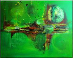 BURGSTALLERs Bild Handgemalt Original Acryl Gemälde Painting Abstrakt BUSCHFEUER…