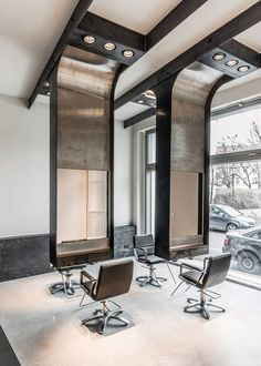 modern industrial salon, karhard, architecture,salon,modern