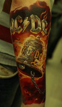 Tatuagem da Banda ACDC ~ Hells Bells
