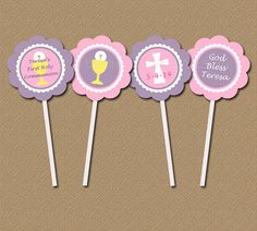 Personalized First Communion Cupcake Toppers / by digitalartstar