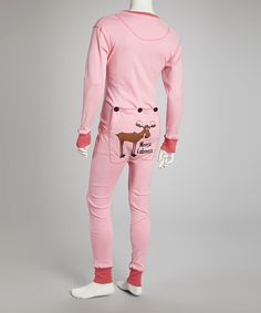 Another great find on #zulily! Pink Moose Flapjack Pajamas - Women by Lazy One #zulilyfinds