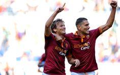 Hämta bilder Adem Ljajic, Marco Borriello, Roma, Serie A, Italia, fotboll, Serbiska fotbollsspelare, Italiensk fotboll spelare, Rom