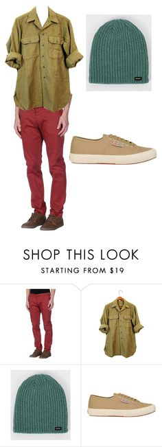 """""""Snow White and the Seven Dwarves- Sleepy"""" by anna-oliphant-dun on Polyvore featuring Michael Coal, Commando, RVCA, Superga, mens, men, men's wear, mens wear, male and mens clothing"""