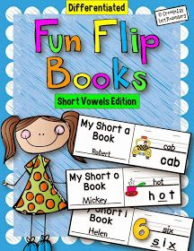 Teaching With Love and Laughter: Fun Flip Books for Short Vowels and a Prefix Flip Book Freebie