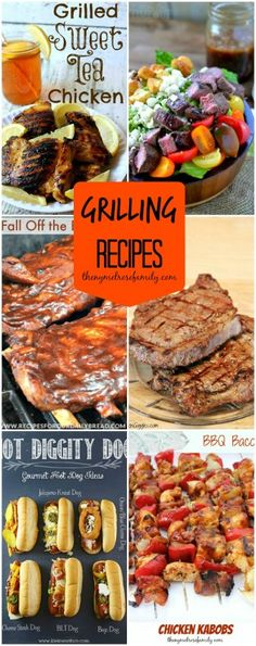 The Best Grilling Recipes including Sweet Tea Chicken and Gourmet HotDogs! {The NY Melrose Family} #myhttender #grilling #summer