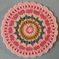 Crochet Mandala Wheel made by Elaine, Hertfordshire, UK for yarndale.co.uk