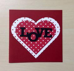 Love Valentines Card. Handmade card. Romantic by TheBlenheimCardCo