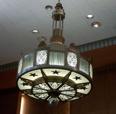 Art Deco Light Fixture, Houston City Hall  by Acadian Crochet, via Flickr