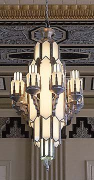 Diagonale design repisas muebles pasajeros pinterest design a majestic art deco chandelier in the texas pacific building fort worth texas c aloadofball