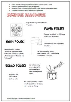 SYMBOLE NARODOWE – TrzyMamyRazem Poland History, Polish Language, Pin On, Diy And Crafts, Kindergarten, Classroom, Advice, Education, School Ideas