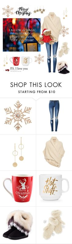 """""""Merry Christmas! 🎄"""" by ieva-galvina ❤ liked on Polyvore featuring John Lewis, WithChic, Cloverpost, Tuinch, Mark & Graham and NOVICA"""