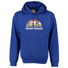 Denver Nuggets Majestic Hardwood Classics Tech Patch Pullover Hoodie - Royal - $59.99