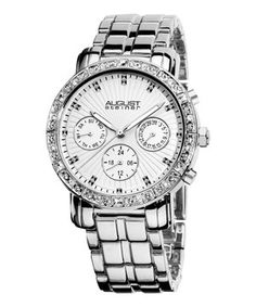 Look at this #zulilyfind! Silver Crystal Chronograph Watch - Women by August Steiner #zulilyfinds