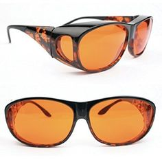 Eschenbach Solar Shields Sun Glasses Small Orange Filter by MAGNIFYING AIDS