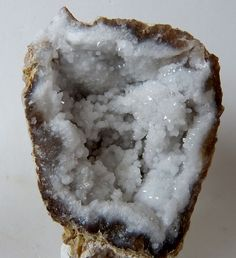 QUARTZ (Silicon Dioxide) crystal filled geodes from the Atlas Mountains, Morocco.