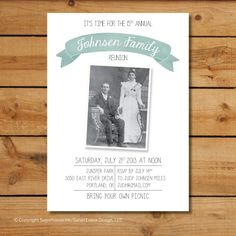 Family Reunion Invitations Vintage Family Photo by sugarhouseink