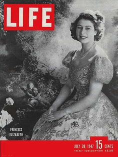 1947 July 28 LIFE Magazine Princess Queen Elizabeth Cover - Mid-Century 40's WWII, Plus Archival Plastic Magazine Protector for Collectors