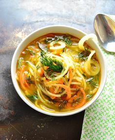 How To Make Spiralized Vegetable Soup