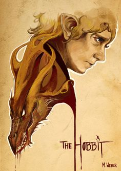 Awesome Fan Poster For The Hobbit Spotlights Martin Freemans Bilbo Baggins & Smaug
