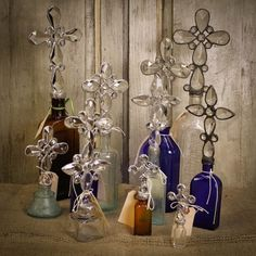 Boxwoods - Antique Cross Bottles