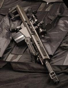 Barrett Short barreled 50 cal sniper rifle.