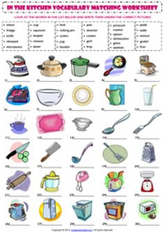 kitchen vocabulary esl printable worksheets and exercises - 28 images - vocabulary matching worksheet in the kitchen worksheet, kitchen esl printable worksheets for kitchen esl printable worksheets for kitchen picture dictionary 1 worksheet free esl, Kitchen Utensils Worksheet, Printable Worksheets, Printables, Vocabulary Worksheets, English Vocabulary, English Exercises, English Activities, Kids Class, Tool Organization
