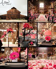 Pink. Barn wedding and reception. Ashley Blake. A. Blake Photography