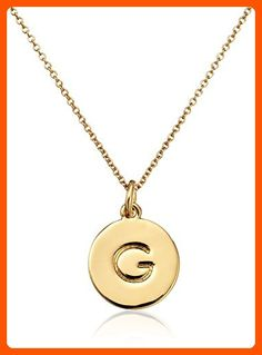 "kate spade new york ""Kate Spade Pendants"" ""G"" Pendant Necklace, 18"" - All about women (*Amazon Partner-Link)"