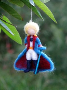 Christmas ornament Little prince Needle felted por Made4uByMagic