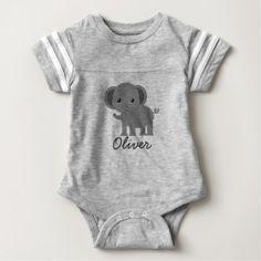 #cute #baby #bodysuits - #Cute Elephant Baby Bodysuit