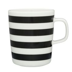 Tasaraita mug, black-white