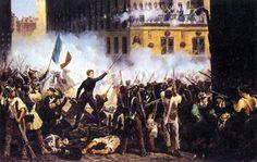 En el estallido de la revolución de 1848 que llevó a cabo las Tullerías el tiempo suficiente como para cubrir la retirada del rey, pero se abstuvo de iniciar medidas activas contra la mafia