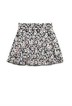 Wild Flower Skater Skirt (Kids) | FOREVER 21 - 2000070845