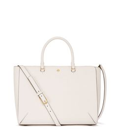 Tory Burch Robinson Large Zip Tote in Pale Apricot