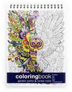 Garden Paths and Forest Trails Coloring Book - Large (8.62 x 11.75 inches)