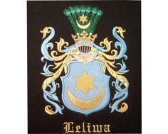 Herb rodowy/herb szlachecki LELIWA - coat of arms - AHA STUDIO Pracownia Haftu Artystycznego | HAFT ARTYSTYCZNY -HERBY, SZTANDARY, PROPORCZYKI  cena 250 zł.   ZAMÓW