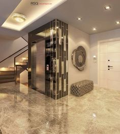 For more design inspirations check our website Luxury Interior, Modern Interior, Home Interior Design, Interior Architecture, Interior Decorating, Lift Design, Wall Design, House Design, Elevator Design