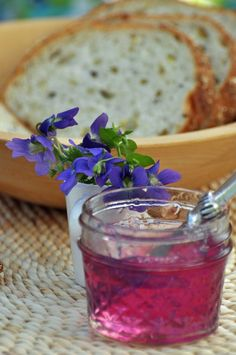 The taste of springtime  - a recipe for making jelly from violets from curlybirds.com