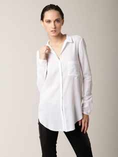 Helmut Lang Element Cotton Button Blouse