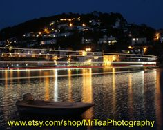 Stunning night timelapse photograph of Kingswear, from Dartmouth Devon by MrTeaPhotography on Etsy, £10.00