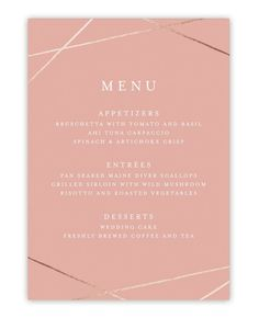 Abstract Elegance Foil-Pressed Menu by Belia Simm for Minted