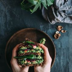 A super hearty chickpea salad sandwich with creamy avocado pesto, spinach and beet chips. New on the blog! #f52grams #iamwellandgood #chalkboardeats #huffposttaste #bloglovinfood #plantbaseddiet #vegansofinstagram #thefeedfeed #foodstyling #foodphotography #vscofood