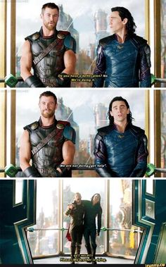 Thor Loki Marvel Avengers Siblings <you can not sat thst they are not brothers> Funny Marvel Memes, Marvel Jokes, Dc Memes, Avengers Memes, Marvel Dc Comics, Marvel Avengers, Marvel Heroes, Loki Thor, Tom Hiddleston Loki