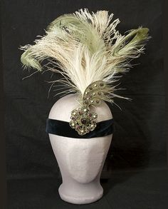 Flapper evening headdress, c.1926, from the Vintage textile archives.