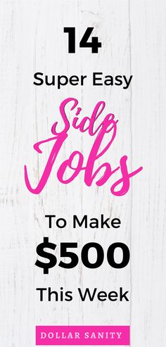 Ideas to make money fast. Online jobs you can use to make 500 quickly. Legit Online Jobs, Quick Cash, Make Money Fast, Finance, Easy, Make Quick Money, Economics