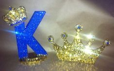 Items similar to Sparkle crown letter/number with matching crown, a pair on Etsy Letter K Design, Alphabet Design, Flower Phone Wallpaper, Cute Wallpaper Backgrounds, Quince Decorations, Birthday Decorations, New Love Songs, Prince Birthday Party, Medieval Party