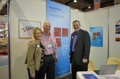 David Audrain, President & CEO, and Stephanie Everett, EVP and COO, visiting with Dave Gardner from SPESA.