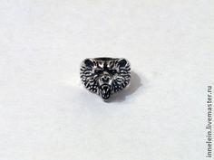 """Кольца ручной работы. Ярмарка Мастеров - ручная работа Серебряное кольцо """"Медведь"""". Handmade."""