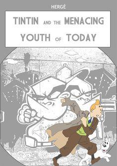 Les Aventures de Tintin - Album Imaginaire - Tintin and the Menacing Youth of Today